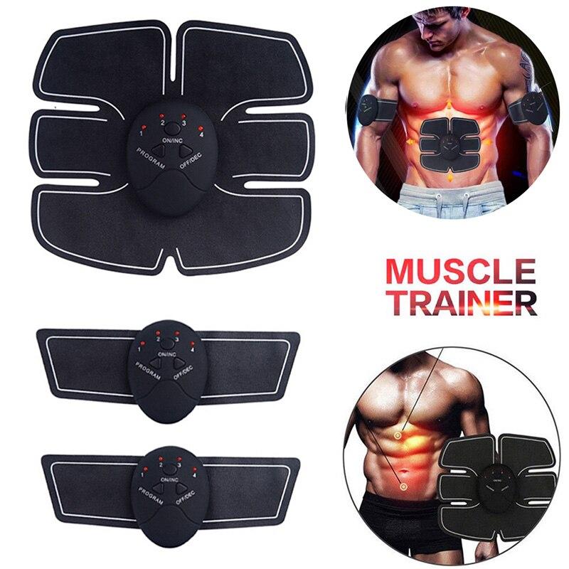 Стимулятор мышц брюшной полости электро Электростимуляция EMS ABS для гимнастики фитнеса дома машина для строительства тела руки бицепс массажер