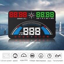 Affichage tête haute HUD S7 OBD2 + système davertissement GPS pour compteur de vitesse de sécurité du conducteur