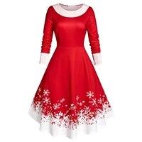 new fashion plus size women vintage christmas snowflake print velvet party long sleeve dress skirts %d0%b6%d0%b5%d0%bd%d1%81%d0%ba%d0%be%d0%b5 %d0%bf%d0%bb%d0%b0%d1%82%d1%8c%d0%b5 l 5xl