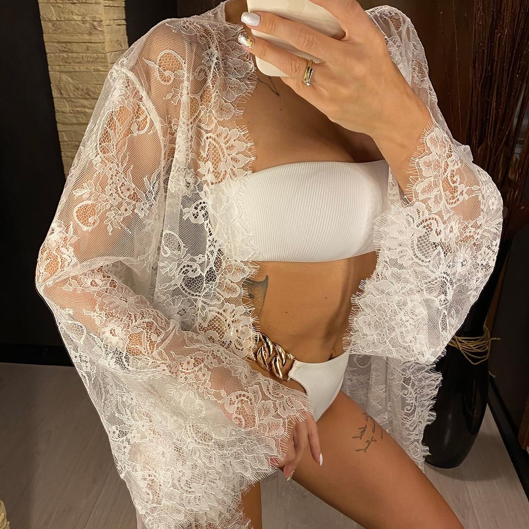 Robe de plage en dentelle Sexy élégante
