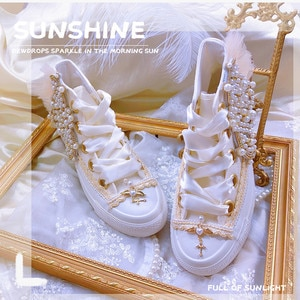 Princess palace style vintage embossed canvas elegant shoes high-help flat daily shoes lace-up girl's shoes vintage round head