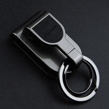 Luxe haute qualité ceinture porte-clés Clip de fixation taille suspendus ceintures porte-clés porte-clé voiture porte-clés boucle hommes créatifs meilleur cadeau