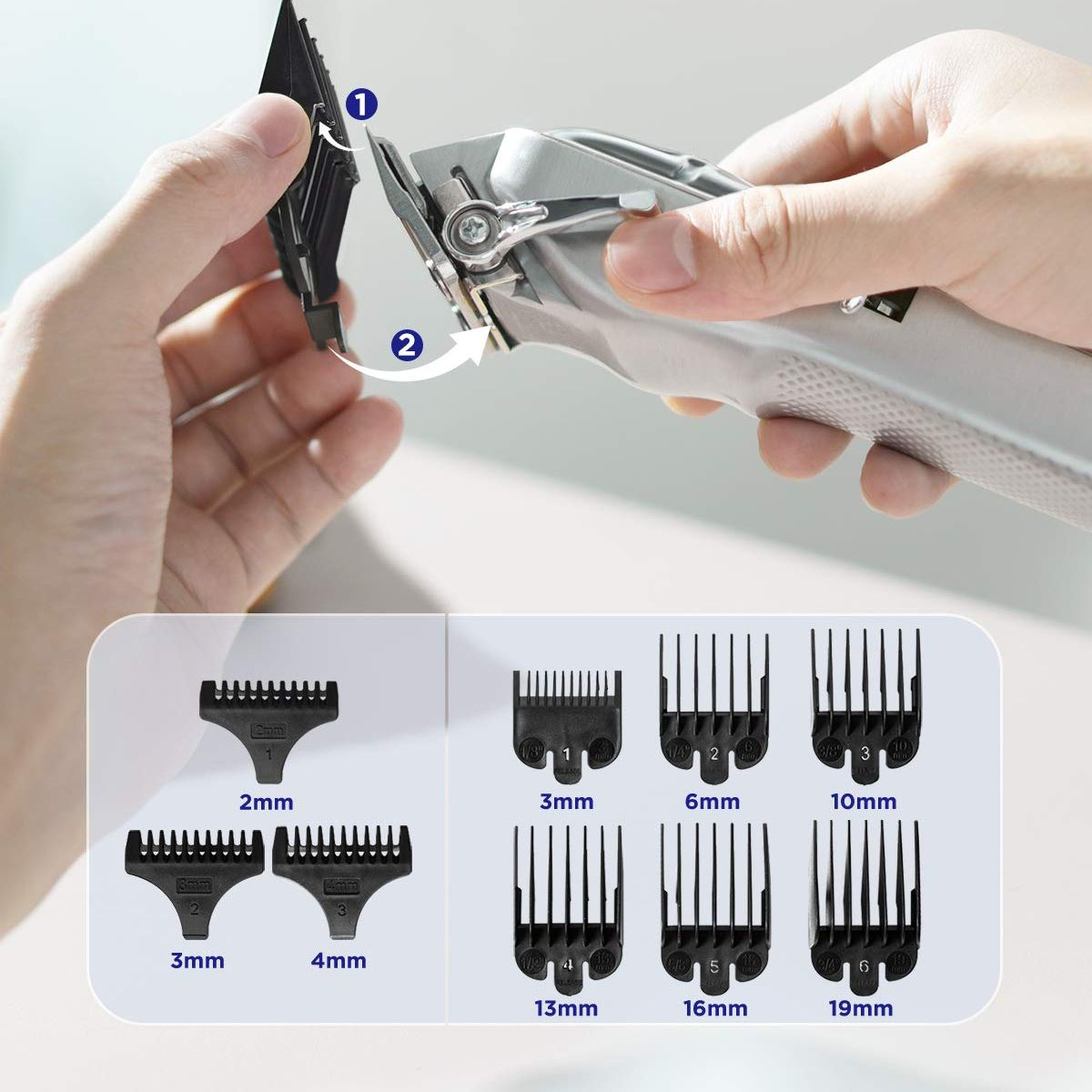 Limural Hair Clippers for Men Professional Hair Cutting Kit Beard Trimmer BarbersCordless Close Cutting T-Blade Trimmer Kit enlarge