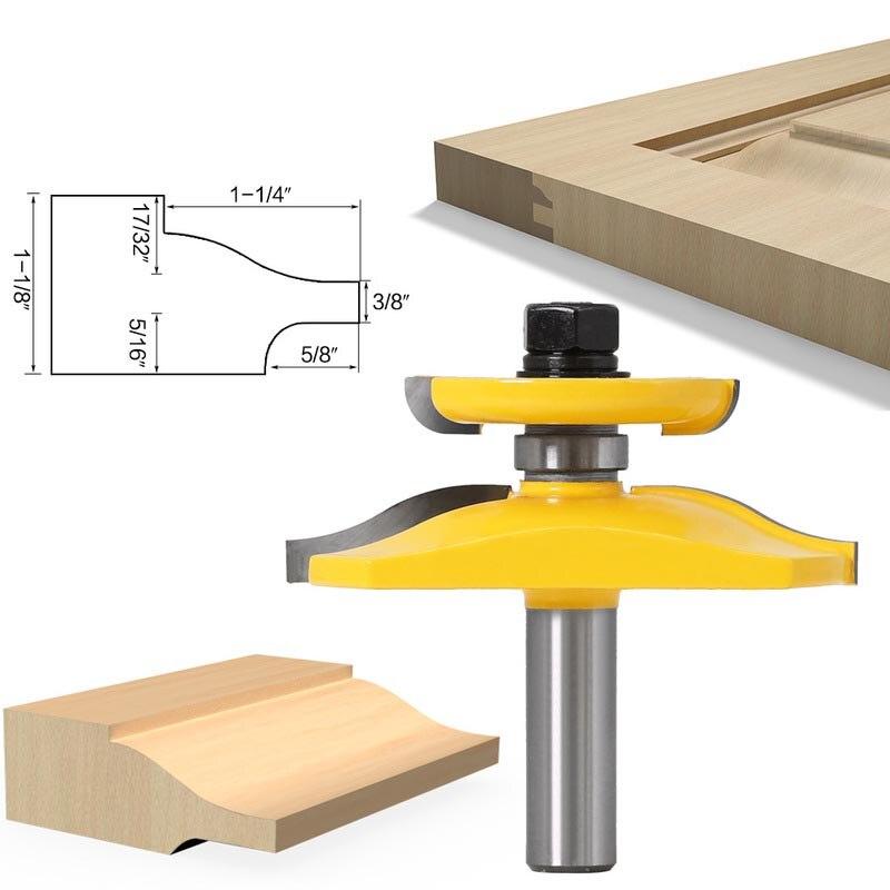 12mm 1/2 haste ocidental porta do agregado familiar prancha faca carpintaria roteador bits duro liga faca carpintaria gabinete porta fresa