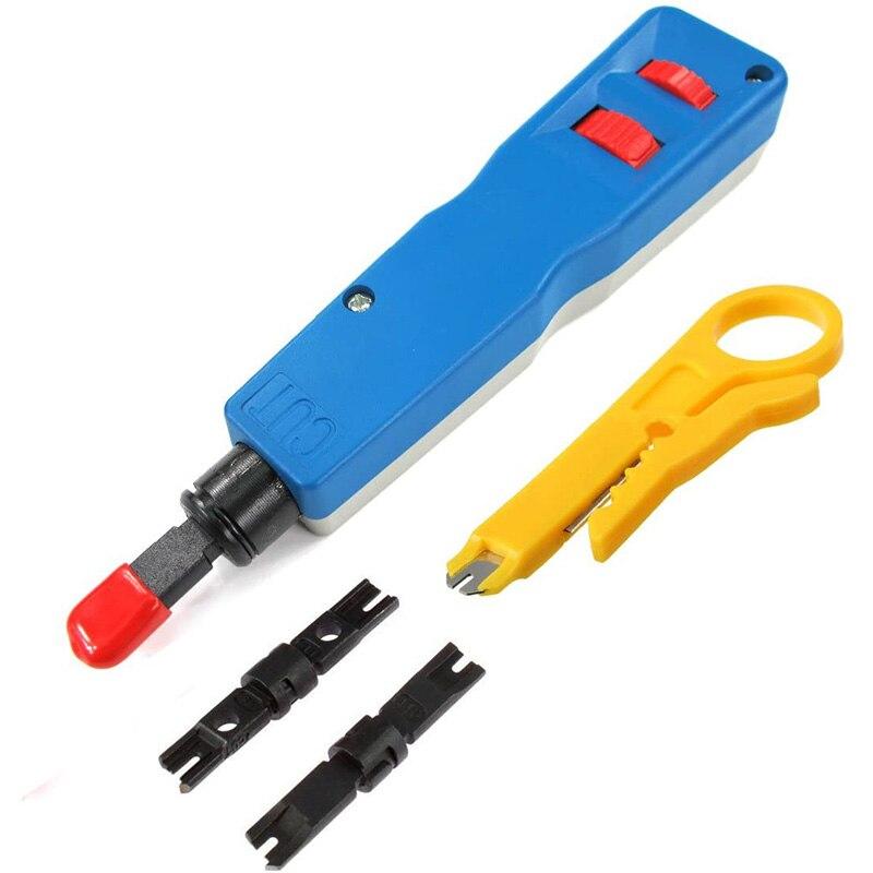 WSFS Heißer Anlegeschlagwerkzeug, klinge Netzwerk Draht Punch Unten Installation Cut Werkzeuge für RJ45 Jack Kabel Draht Stripper