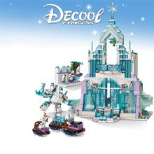 New Snow World Series The Elsa Magical Ice Castle Set Girl Friends Building Blocks Bricks Toys For Children 43172