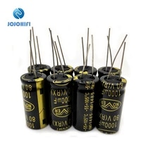 4 8 12 16 20pcs 1000uf 80v 18mmx35 5mm fever nover gold hifi electrolytic capacitors for audio capacitor amplifier board