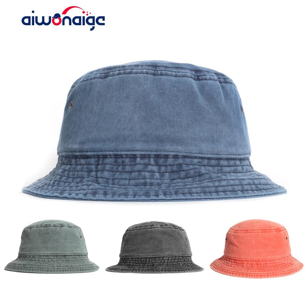 2020 новая Панама gorras Женская однотонная Панама Кепка куб шляпа рыбак шляпа белый черный шляпа унисекс джинсовая Панама
