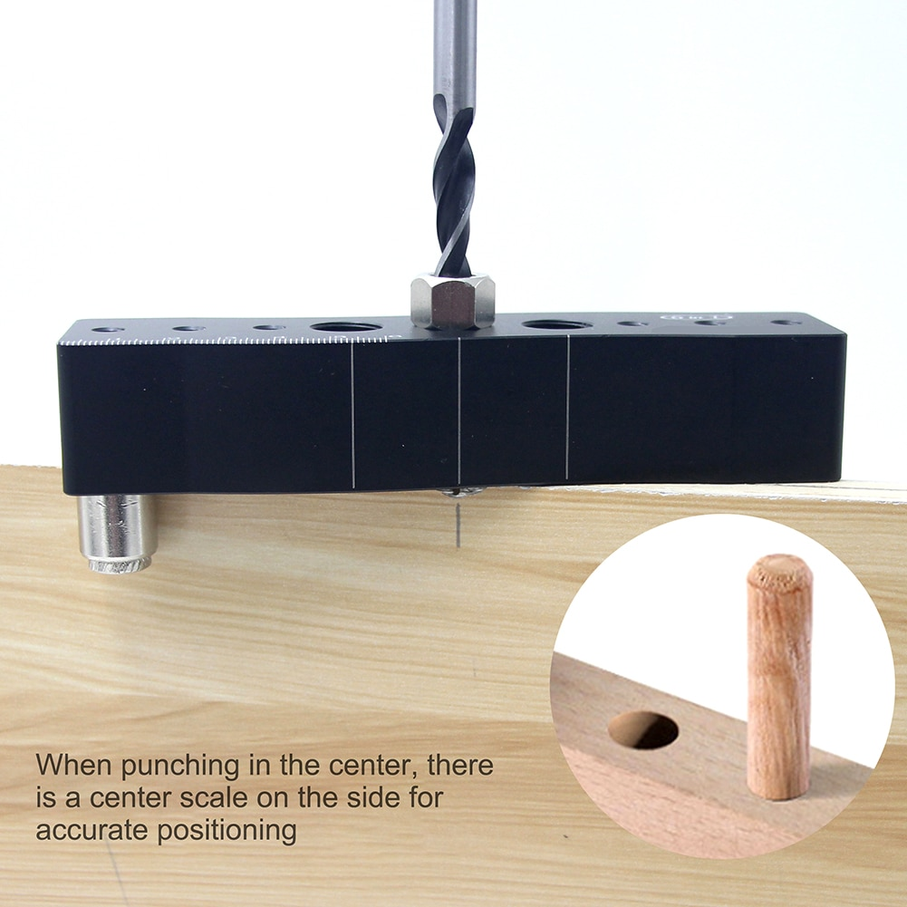 Six-in-one Woodworking Punching Drilling Positioner Locator Multifunctional Scriber Hole Positioning Puncher DIY Carpentry dental x ray complete film positioning system positioner holders locator
