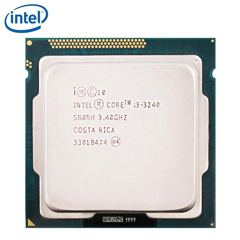 Intel I3 3240 Dual-Core 3.4GHz LGA 1155 TDP 55W 3MB Cache i3-3240 processeur dunité centrale de bureau testé 100% de travail