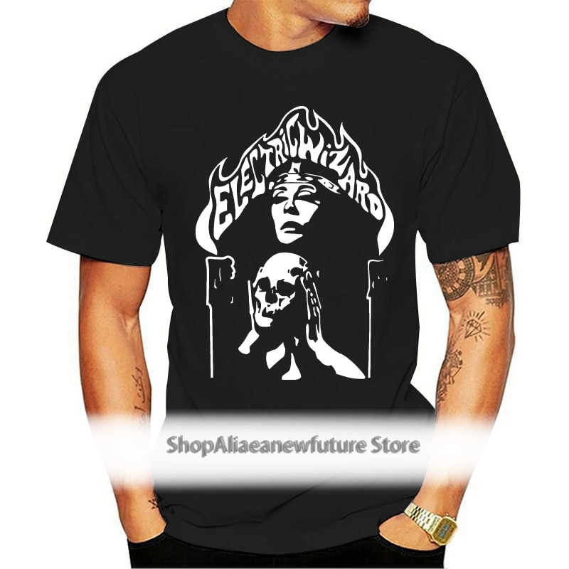 Electric Wizard Custom  Men T-shirt Size Fashion T Shirt Hipster Cool TopsStyle Vintage Tees Short Sleeve Funny