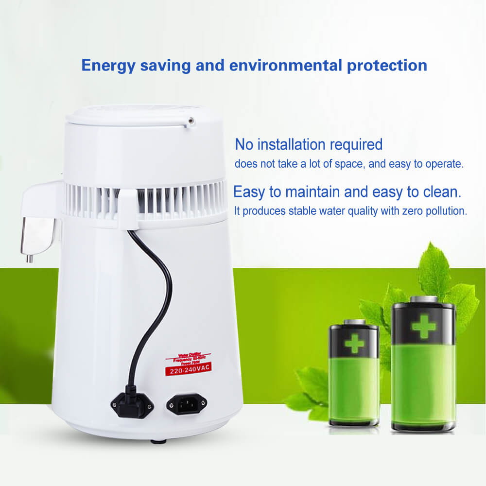 4L Household Electric Water Distiller Home Automatic Water Filtration Machine Water Purifier Container EU Plug Food Grade PP enlarge