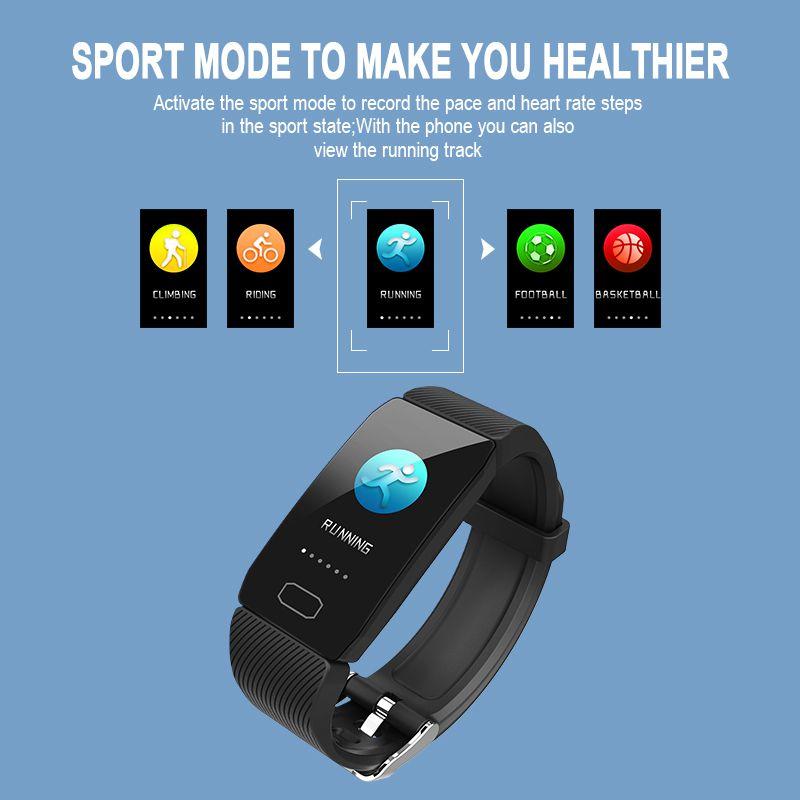 Pulseira de Fitness Relógio Inteligente Tela Grande Atividade Rastreador Pedômetro Heart Rate Monitor Sports Ver Band q1 1.14