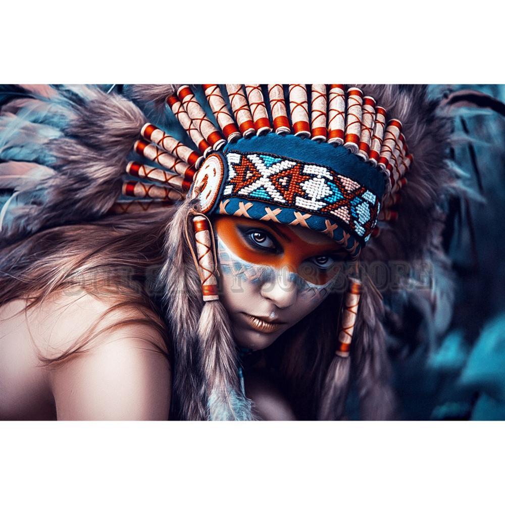 5D obraz diamentowy DIY native dziewczyna pełny haft diamentowy robótki mozaika ściegu ślub Decor robótki miły prezent