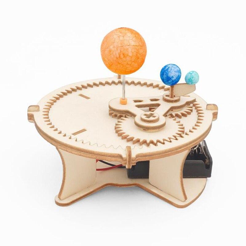 1 Juego de nuevos juguetes de ciencia, sistema Solar eléctrico, modelo de astronomía, sol, tierra, Luna, Planeta, experimento, juguete educativo para niños, regalos