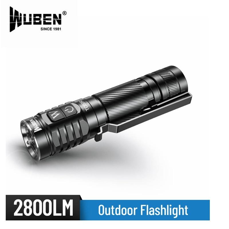 WUBEN TO50R Flashlight 4* CRI LEDs Flashlight max 2800 Lumen beam throw 146 meter USB Rechargeable Outdoor enlarge