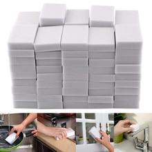 100pcs 100*60*20mm White Melamine Sponge Magic Sponge Eraser For Kitchen Office Bathroom Clean Acces