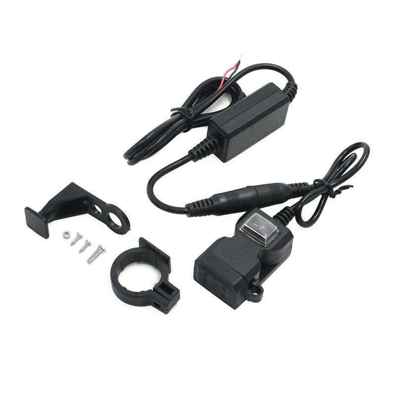 QC3.0 cargador USB de motocicleta impermeable doble USB Cambio rápido 12V adaptador de fuente de alimentación para iphone Samsung Huawei Xiaomi Apple