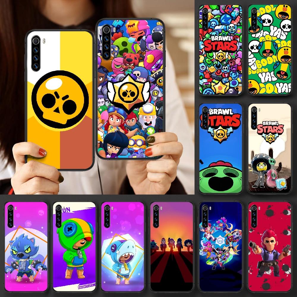 Stars Game Crow Leon Phone Case For Xiaomi Redmi Note 7 8 8T 9 9S 4X 7 7A 9A K30 Pro Ultra black Cov