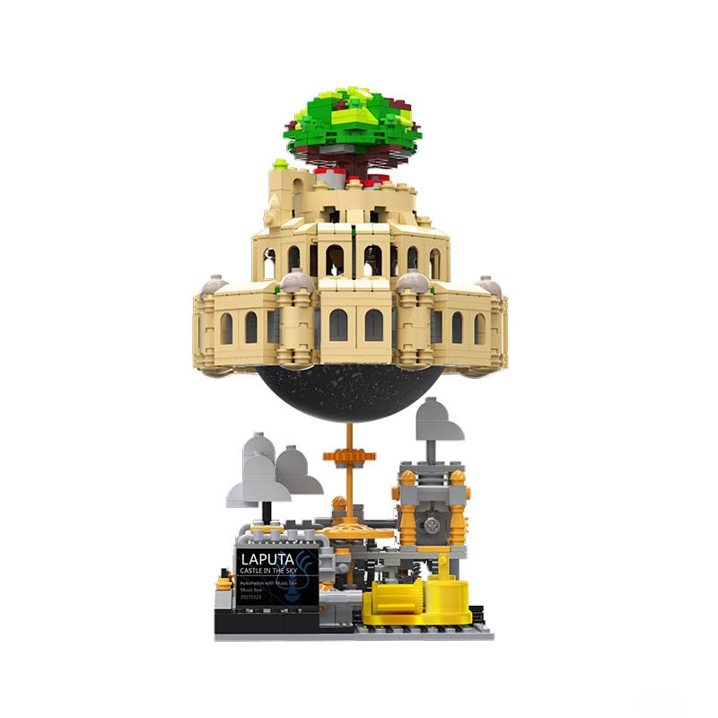 Bloques de construcción para creativos bloques de Castillo, modelo de bloques Air City con caja de música, juguetes, juguete técnico, ladrillos para niños, regalos de navidad
