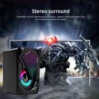 3 5mm usb x2 wired computer speakers bass stereo subwoofer colorful led light for laptop dvd mp3 mp4 speaker soundbar