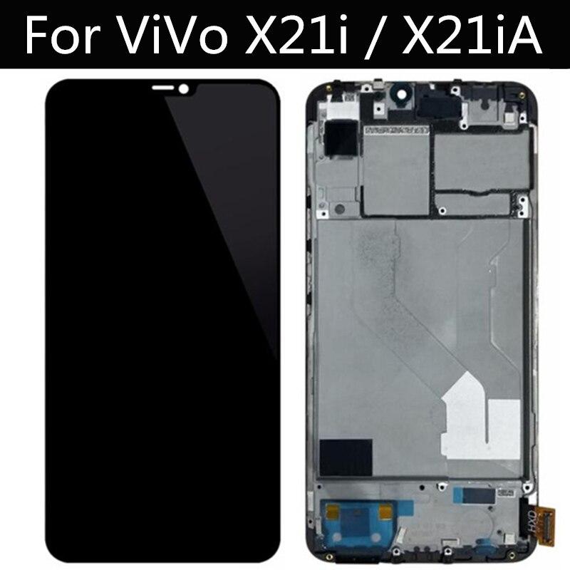 لفيفو X21i lcd X21iA LCD عرض شاشة تعمل باللمس محول الأرقام زجاج عدسة الجمعية استبدال