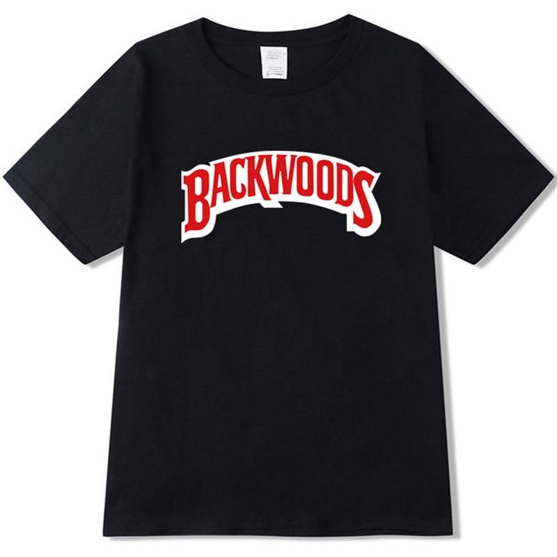 Backwood t shirt 2019 nueva moda de verano hombres mujeres algodón cuello redondo de manga corta Camiseta Harajuku hip-hop camiseta Swag camiseta