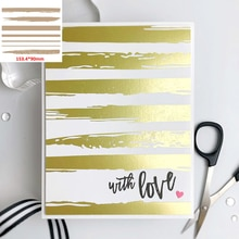Hot Foil Plates Irregular Line Strips for DIY Scrapbooking Album Paper Cards Making Template 2021 #23