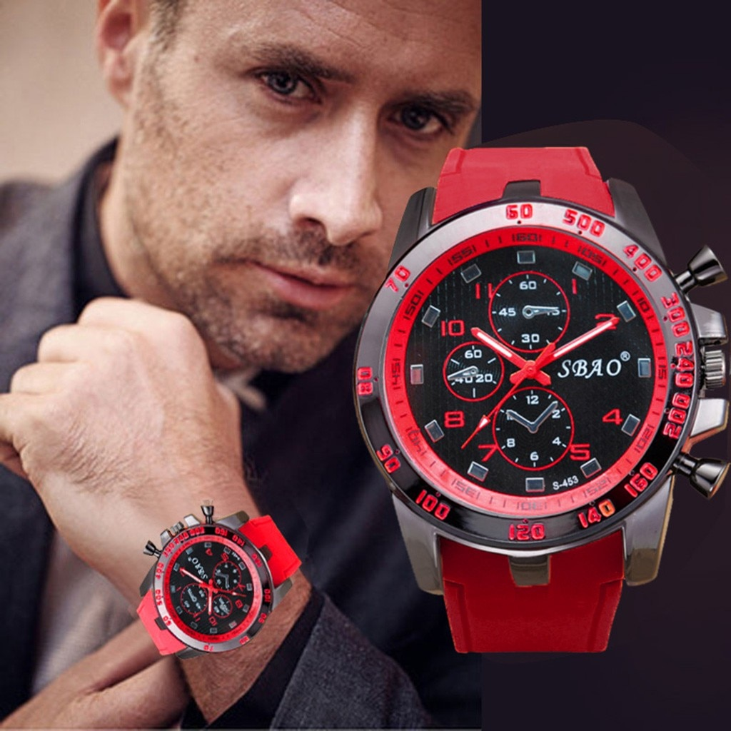 Top brands Men's Quartz Watch Fashion Wristwatches Stainless Steel Yellow Clock Luxury Sport Analog
