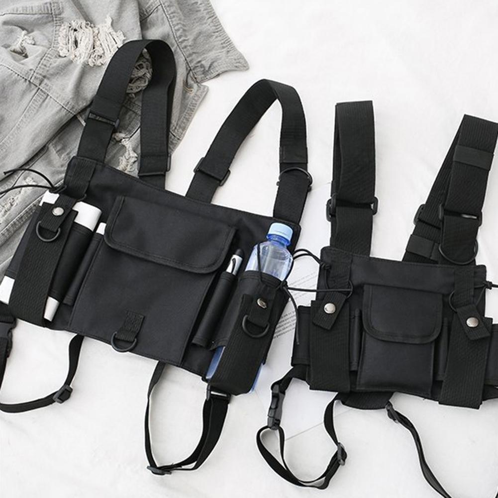AliExpress - Unisex Outdoor Adjustable Vest Chest Hanging Bag Double Shoulder Waist Pouch Made of high quality nylon, wear-resistant and dura