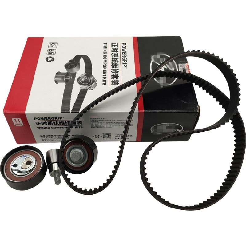 4PCS/SET Timing Kit For Chery A3 M11 J3 A5 Fora Tiggo Timing Tensioner&Timing Belt&Idle&Tensioner  473H-1007060AB