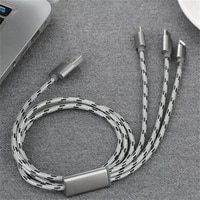 3 in 1 mobile phone 3a fast charging cable usb cable type c data line