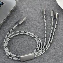 3 en 1 téléphone portable 3A câble de charge rapide câble USB TYPE-C ligne de données