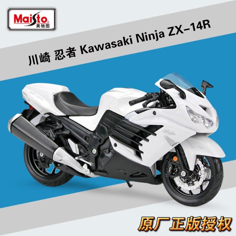 Maisto 112 Diecast Ninja ZX-14R ZX 14 R motocicleta deportiva de aleación de Metal motocicleta carretera modelo