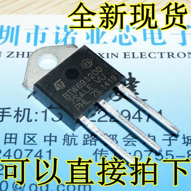 5 unids/lote nuevo punto BTW69-1200 BTW691200 1200V unidireccional tiristor TO-3P