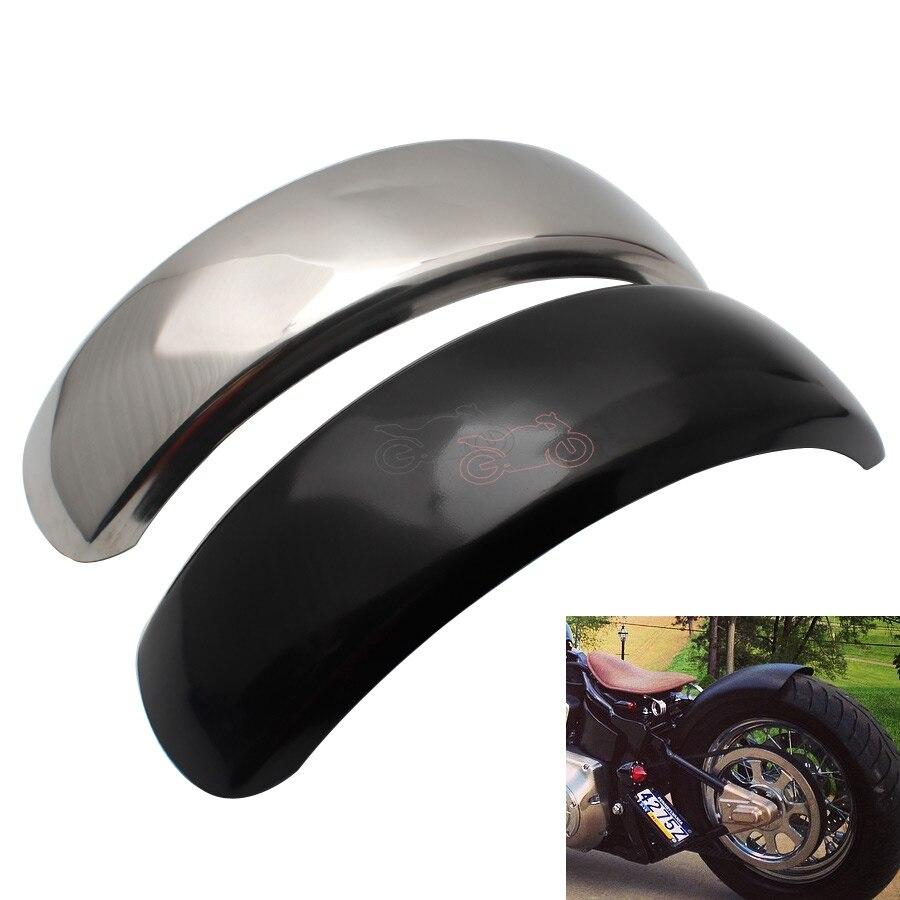 15.6 centímetros Plana Motocicleta Traseiro Fender Flares Trailer Mud Flaps Respingo Guarda Longo para Harley Bobber Chopper VTX400 DS400 XVS400 600
