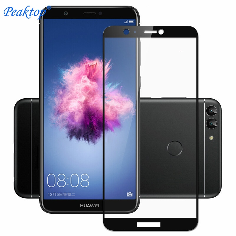 Vidrio templado para Huawei P Smart 2018 cristal PSmart Protector de pantalla Enjoy 7S para Huawei P Smart 2018 película huawey curvada 3D