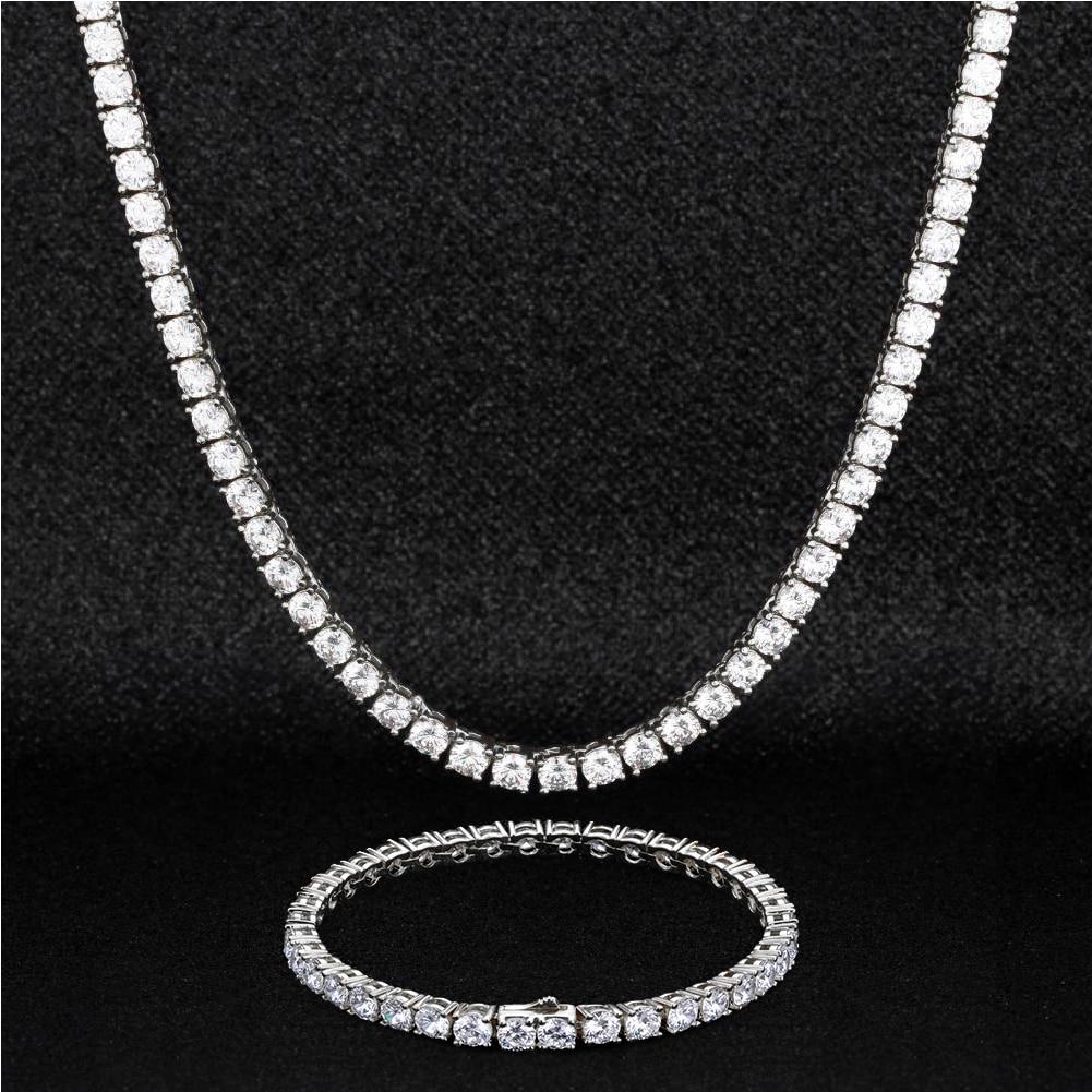 P&Y Custom 925 Sterling Silver Gold VVS D E F Moissanite Jewellery Choker Hip Hop Men Women Diamond Necklace Bracelet