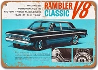 1963 rambler classic vintage tin signs cars sisoso metal plaques poster man cave pub retro wall decor 16x12 inch