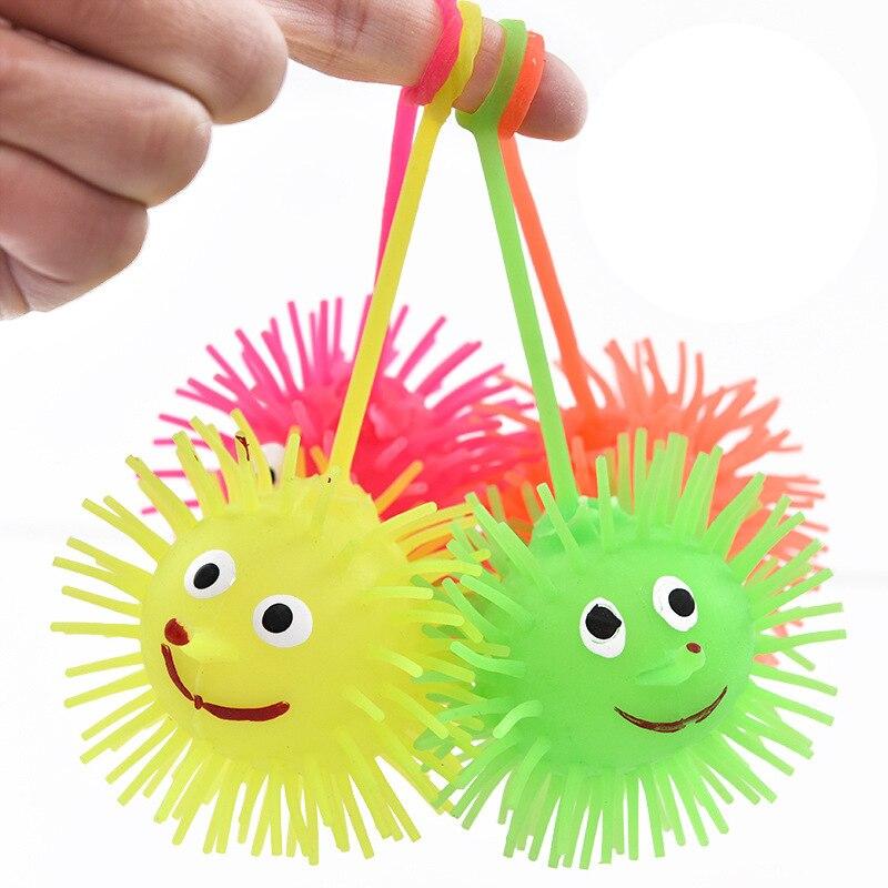 Эластичный светящийся шарик для волос, шарик для вентиляции, детская мягкая резиновая игрушка, мультяшсветильник ящийся светящийся шарик д...