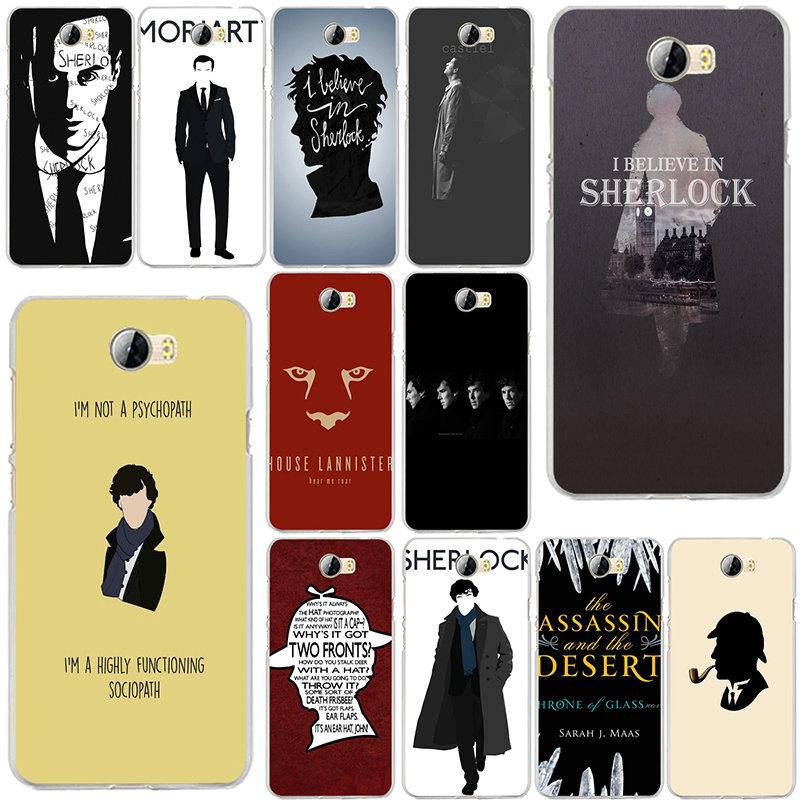 Sherlocked I Am Sherlock Dr Watson Soft TPU Phone Case Cover for Huawei P8 P9 P10 Mate 10 Pro Y5 Y6 Y3 II Y7 Honor 6X 7X 9 Lite