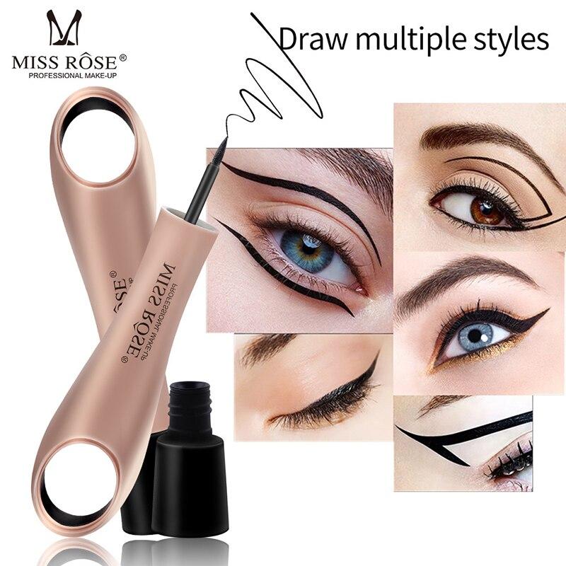 Fräulein Rose Black Eye Liner Make-Up Professionelle Kosmetik Rose Gold Faul Ring Einfach zu Tragen Eyeliner Pen Wasserdicht 2019 Kosmetische