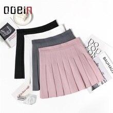 Plaid plissé jupe-shorts femmes jupes jupe-haut femme quatre saisons nouveau taille haute femme Tangada étudiants mince femmes 2020