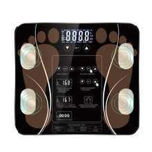 Balance de graisse corporelle numérique pour salle de bain, électronique intelligente, plancher, affichage LCD