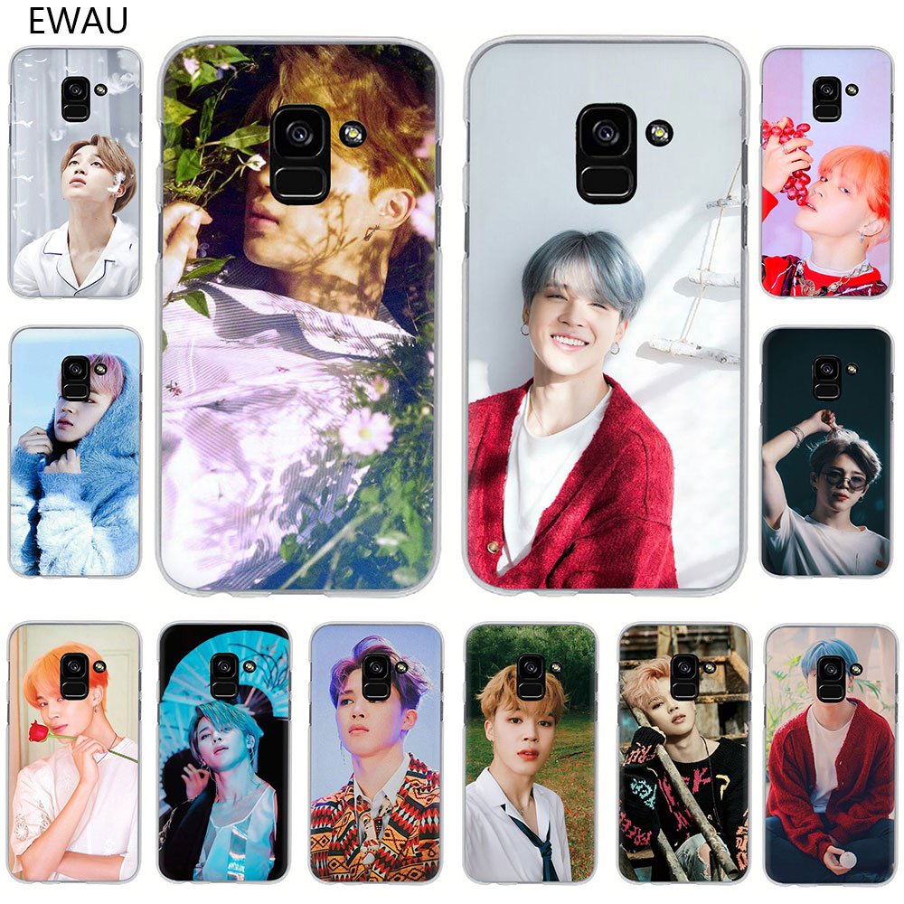 EWAU Jimin guapo duro caso de la cubierta del teléfono para Samsung Galaxy A2 Core A6 7 8 9 2018 A10S 20S 20E 30S 40S 50S 60 S