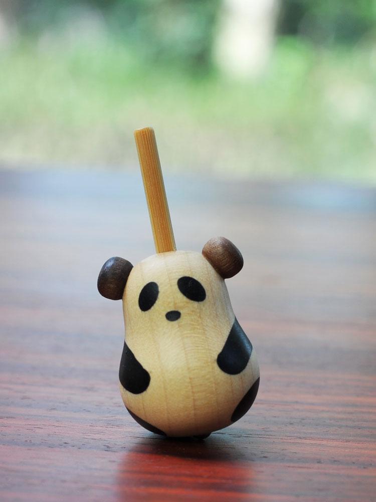 Kawaii Panda Hand Twist Rotation Solid Wood Spinner Fidget Spinner Creative Leisure EDC Adult Anti Stress ADHD Toy Decoration