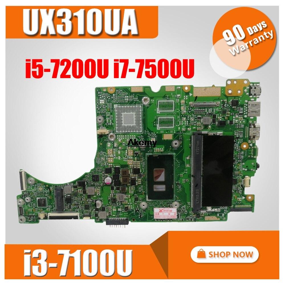 Placa base UX310UA i3-7100U/i5-7200U/i7-7500U para ZenBook ASUS UX310U UX310UA UX310UV UX301UQ, placa base para ordenador portátil (Cambio)
