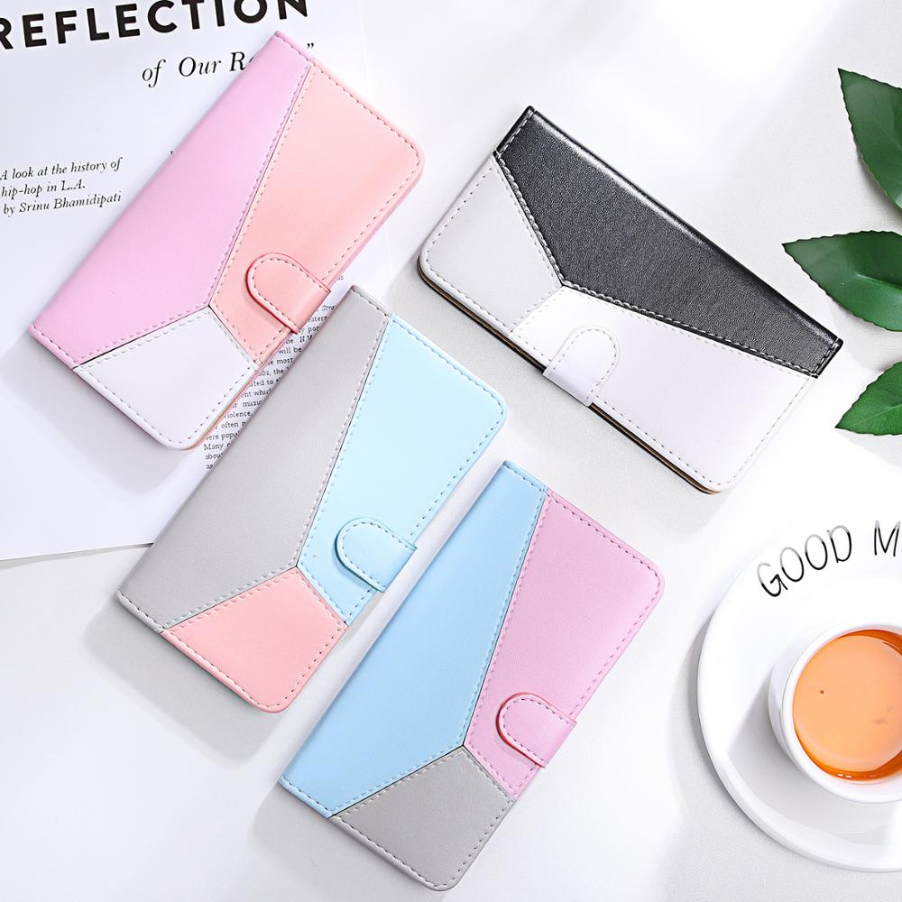 Splicing Leather Case for Xiaomi Xiomi Redmi Note 10 9 9S 8T 7 Pro Phone Back Cover Redmi 9A 9T 9C 7