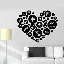 Wall Decal Medical Office Health Clinic Hospital Pharmacy Interior Decor Door Window Vinyl Stickers Creative Wallpaper Art E722