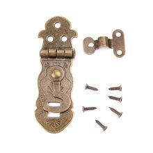 Caja de madera de tono bronce, cerradura de palanca, hebilla de Metal Vintage cerrojo antiguo, pestillo 425D